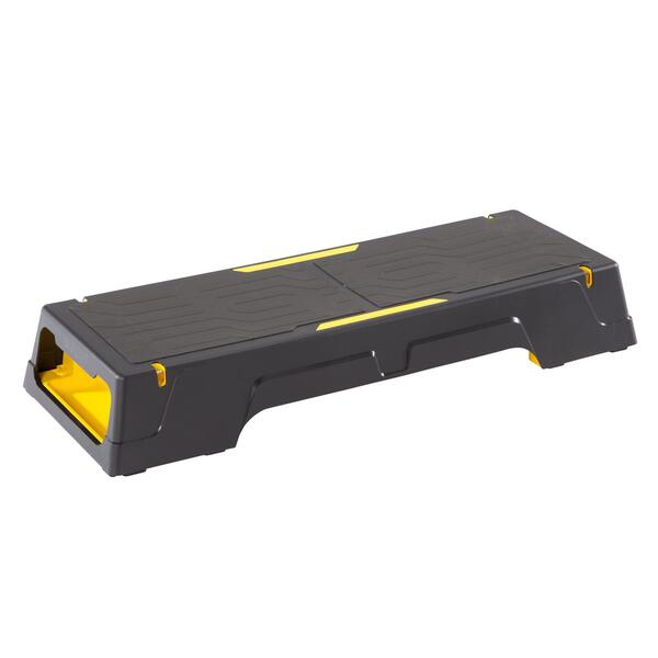 Stepbank, Step Komfort schwarz/gelb