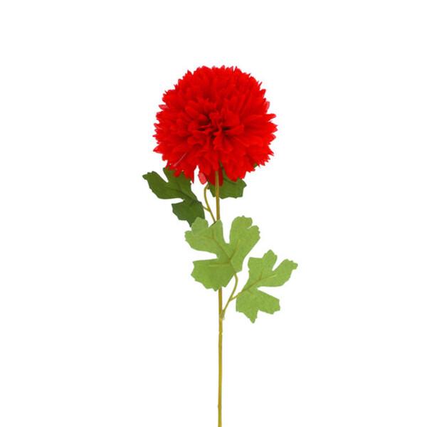 Kunstblume Hortensie rot 55 cm
