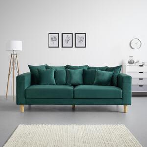 SOFA in grün inkl. 10 Kissen 'Leno'