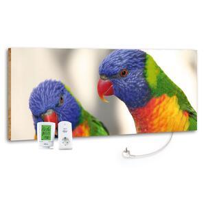 Infrarot-Heizpaneel Vögel mit Thermostat