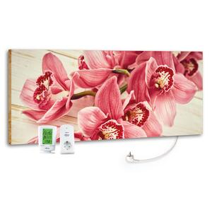 Infrarot-Heizpaneel Pink Orchidee m. Thermostat