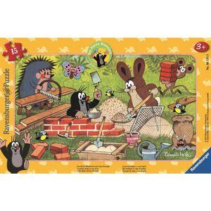 Rahmenpuzzle - Der kleine Maulwurf und seine Freunde - 15 Teile