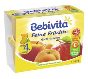 Bebivita Feine Früchte Gartenfrüchte nach dem 4. Monat 4x 100 g