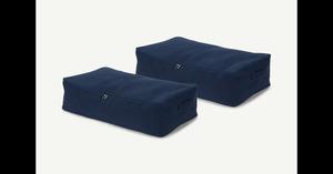 2 x Ponting Aufbewahrungstaschen, Marineblau und Mintgruen - MADE.com