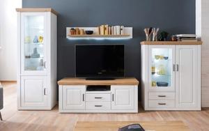 MCA furniture - Wohnwand Brixen in Pinie Aurelio-Optik/Grandson Oak-Optik