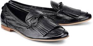 AGL, Lack-Loafer in schwarz, Slipper für Damen