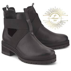 Another A, Cut-Out-Stiefelette in schwarz, Boots für Damen