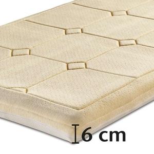 Best-Schlaf Visko-Mineralschaum Klima-Wendeauflage, 6 cm dick - 100 x 200 cm