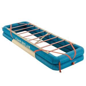 Campingbett Bed Air aufblasbar 70 cm x 200cm für 1 Person blau (koppelbar)