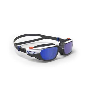 Schwimmbrille 500 Spirit Größe S orange/blau verspiegelte Gläser