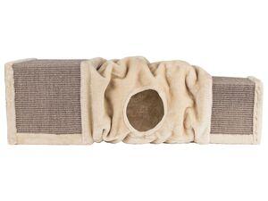 ZOOFARI® Katzentunnel 2in1, 106 cm Länge, zu einer Höhle zusammenschiebbar, aus Sisal