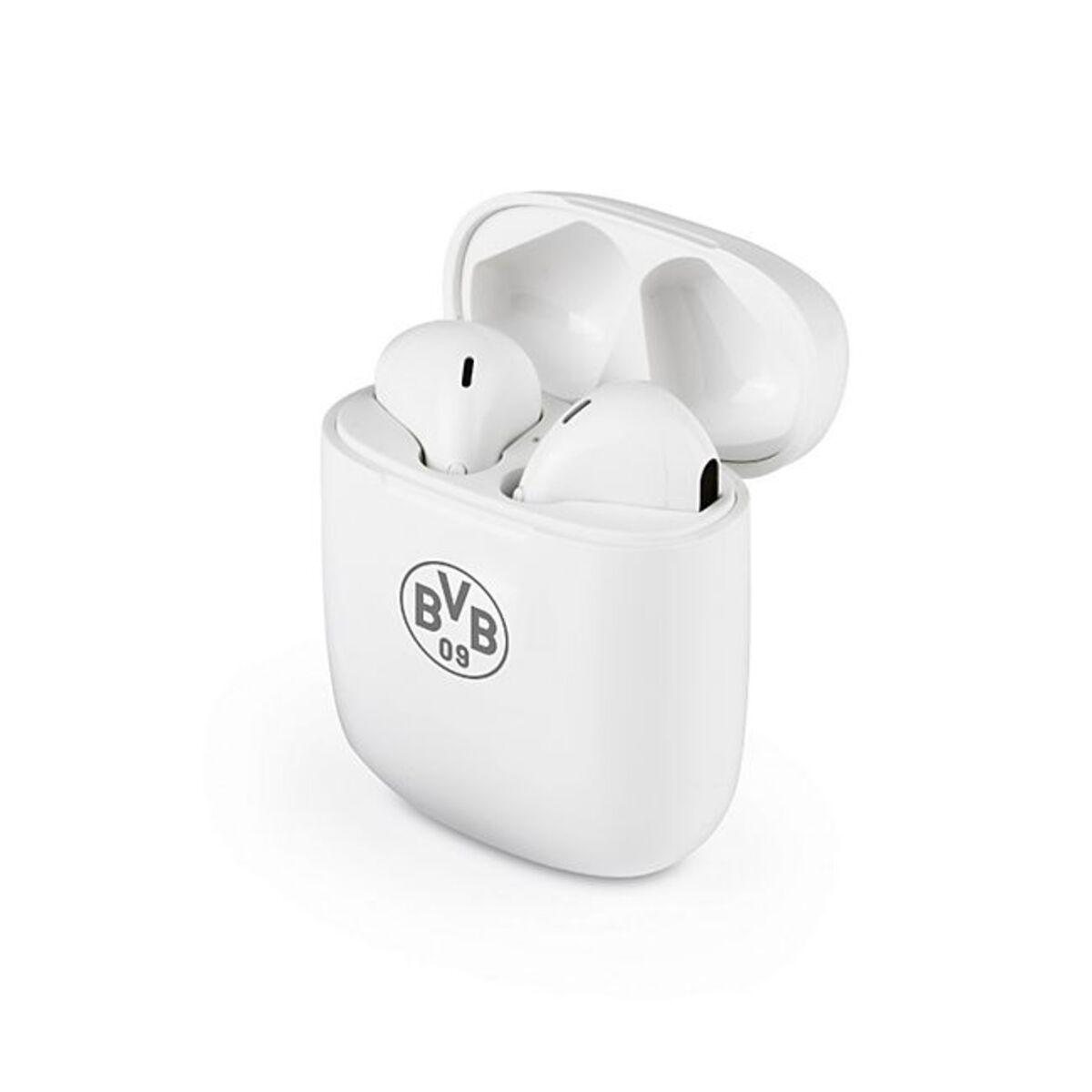 Bild 1 von BVB Kopfhörer In-Ear Bluetooth 5V weiß/grau mit Logo