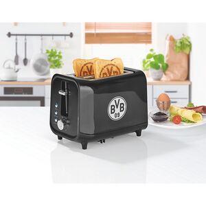 BVB Toaster mit Soundfunktion 800W schwarz/silber