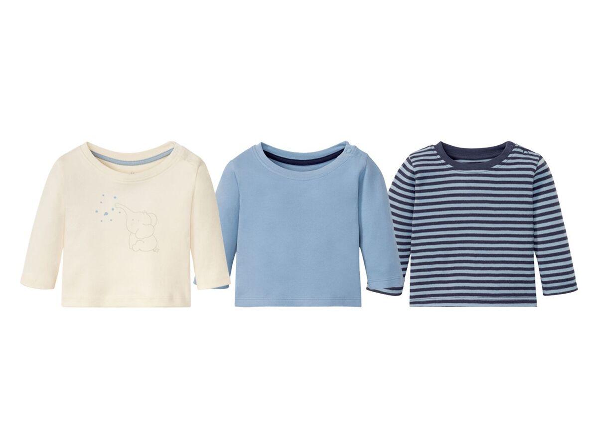 Bild 2 von LUPILU® Baby Langarmshirts, 3 Stück, aus reine Baumwolle