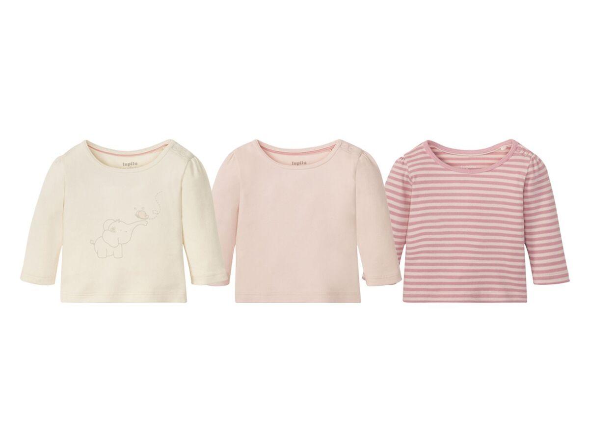 Bild 9 von LUPILU® Baby Langarmshirts, 3 Stück, aus reine Baumwolle