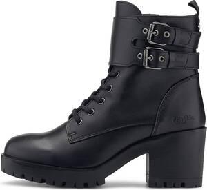 Buffalo, Schnür-Boots Milania in schwarz, Boots für Damen