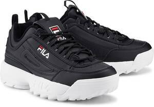 Fila, Disruptor M Low Wmn in schwarz, Schnürschuhe für Damen