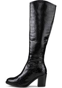 Belmondo, Kroko-Stiefel in schwarz, Stiefel für Damen