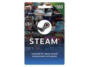 Steam Wallet Card über 100€