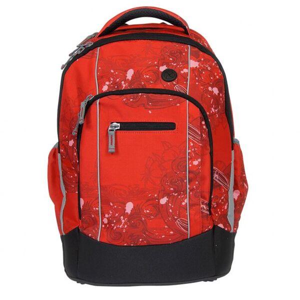 Stylex - Schulrucksack - rot/schwarz