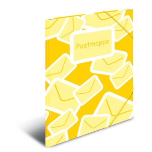 Postmappe DIN A 4 gelb - mit Gummizug