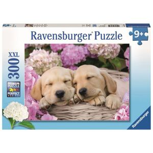 Puzzle - Süße Hunde im Körbchen - 300 XXL Teile - Ravensburger