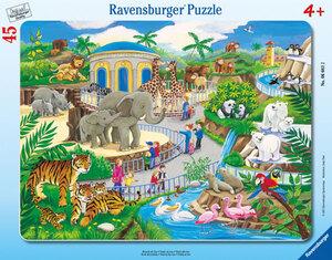 Rahmenpuzzle - Besuch im Zoo - 45 Teile