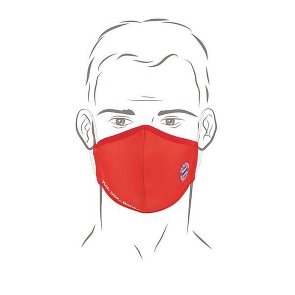 FCB Mund-Nasen-Maske rot/weiß