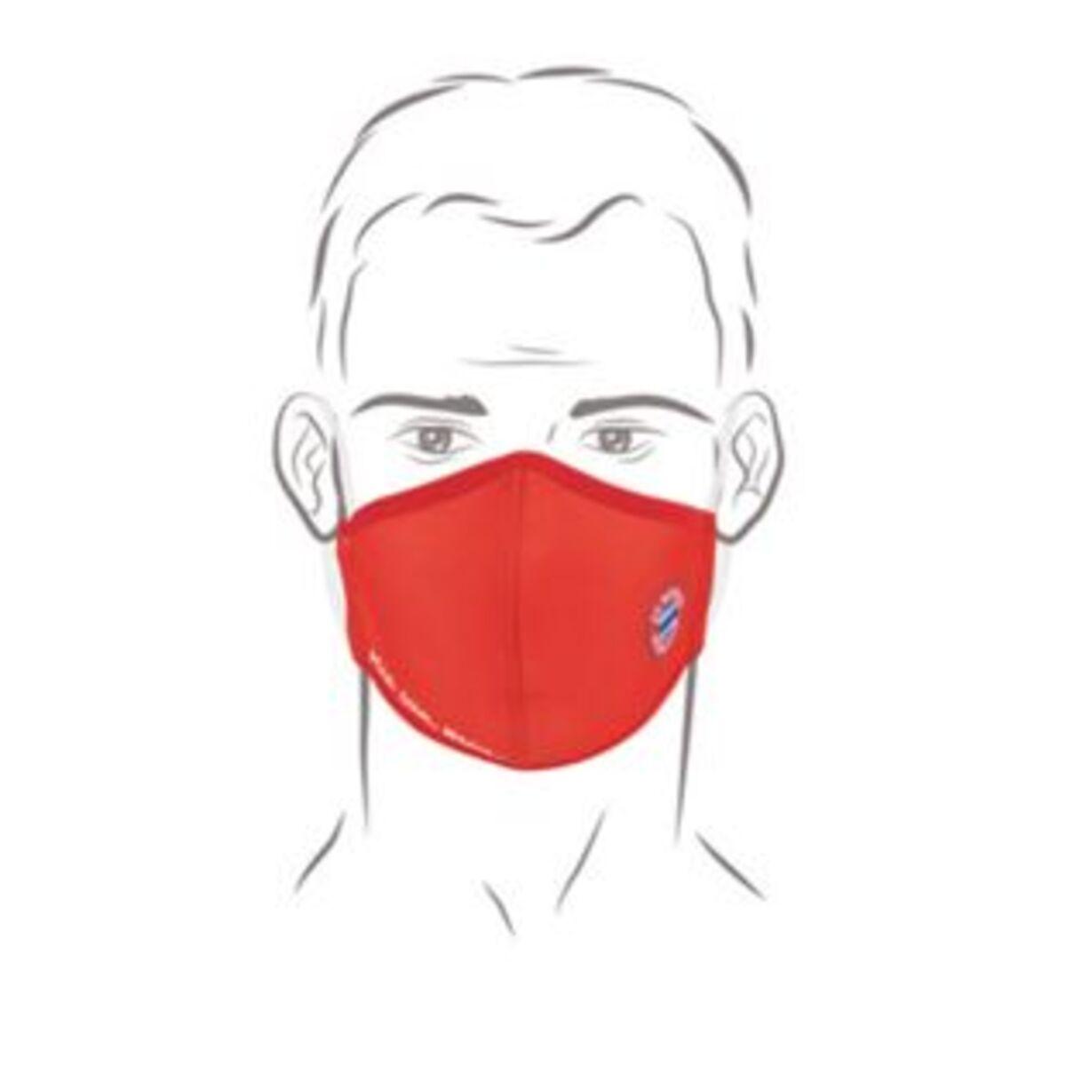 Bild 2 von FCB Mund-Nasen-Maske rot/weiß