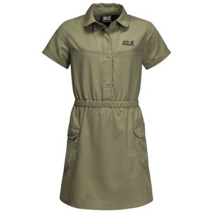 Jack Wolfskin Treasure Hunter Dress Girls Kleid Mädchen 164 grün khaki