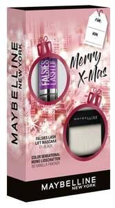 Maybelline New York X-Mas Set Falsies Lash Lift Mascara Black + Color Sensational Mono Lidschatten Nr. 80