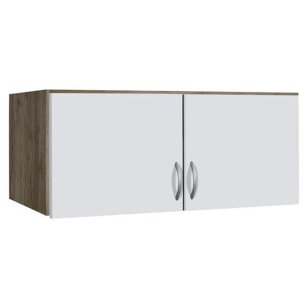 Carryhome Aufsatzschrank 91/39/54 cm weiß, eichefarben , Case , Holzwerkstoff , 91x39x54 cm , Strukturlack, Wasserlack,Nachbildung , 000380002379
