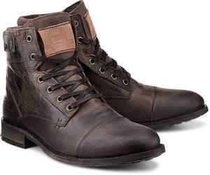 COX, Schnür-Boots in dunkelbraun, Boots für Herren