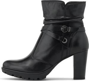 COX, Leder-Stiefelette in schwarz, Stiefeletten für Damen