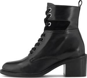 COX, Schnür-Stiefelette in schwarz, Boots für Damen