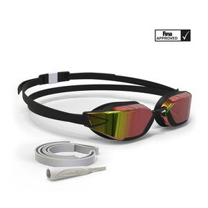 Schwimmbrille 900 B-Fast schwarz/rot verspiegelte Gläser