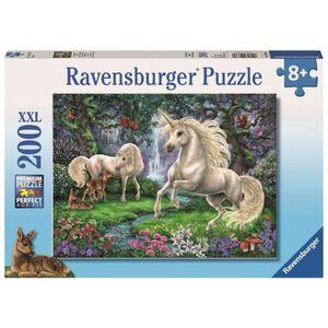 Puzzle - Geheimnisvolle Einhörner - 200 XXL Teile