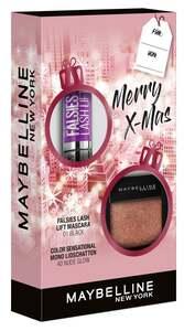 Maybelline New York X-Mas Set Falsies Lash Lift Mascara Black + Color Sensational Mono Lidschatten Nr. 40