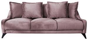 Dreisitzer-Sofa in Altrosa ´ROYAL ROSE B: 22 CM ALTROSA´