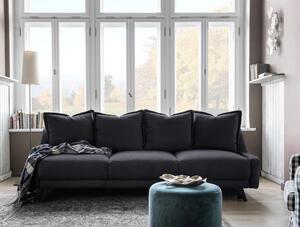Dreisitzer-Sofa in Dunkelgrau ´ROYAL ROSE B:225CM DUNKELGRAU