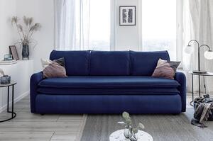 Dreisitzer-Sofa in Dunkelblau ´TENDER EDDIE DUNKELBLAU´