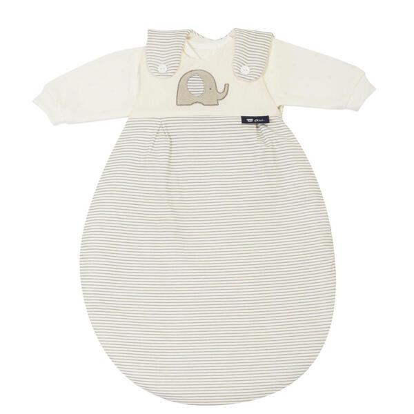 Alvi Babyschlafsackset , 44553-323-6 Baby-Mäxchen , Taupe, Beige , Textil , Elefant , Jersey,Jersey , 004507000402