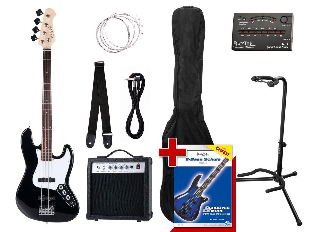 Bild 1 von Rocktile Groovers Pack JB E-Bass Set II Black