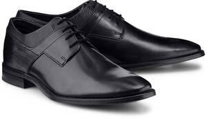 bugatti City, Derby-Schnürer in schwarz, Business-Schuhe für Herren