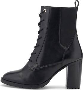 COX, Schnür-Stiefelette in schwarz, Stiefeletten für Damen