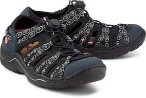 Rieker, Trekking-Sandale in dunkelblau, Slipper für Damen