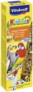 Vitakraft Kräcker Honig & Eukalyptus für Großsittiche 2x 90 g