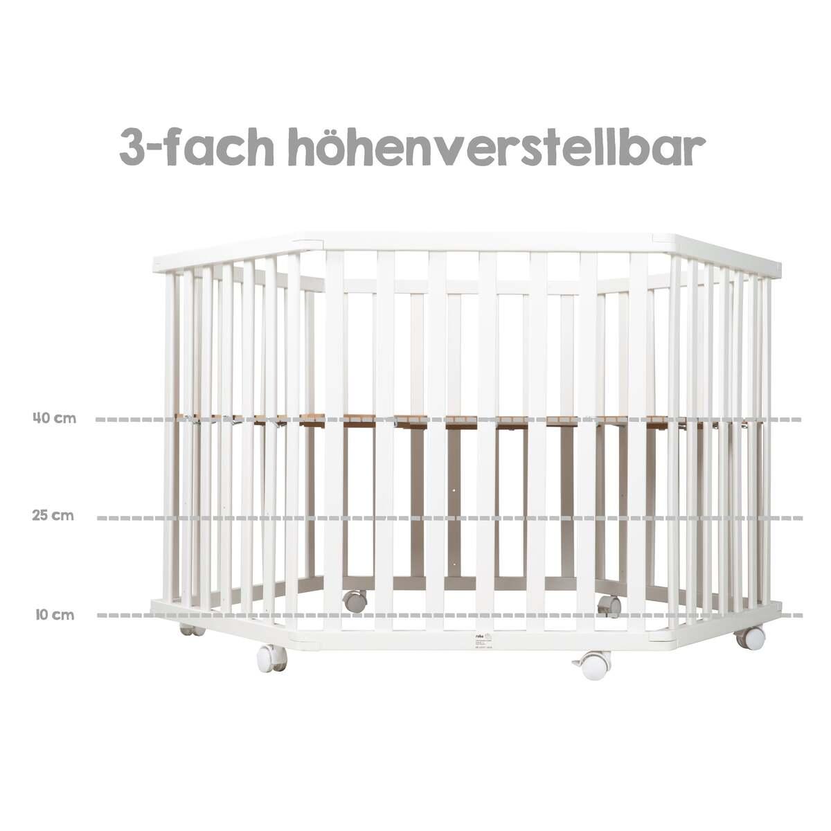 Bild 3 von roba 6-eckiges Laufgitter Style türkis, weiß lackiert