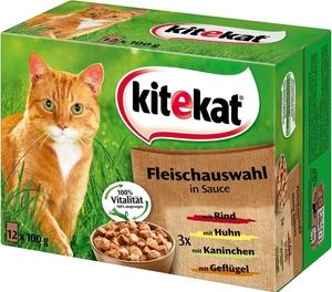 Kitekat Fleischauswahl in Sauce Katzenfutter nass Multipack 12x 100 g