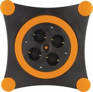 REV Kabelbox 4-fach Schutzkontaktsteckdose H05VV-F 3G1,5 orange schwarz ,